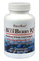 Wild Blueberry IQ by FruitFast | 60 Count - Non-GMO - Gluten Free - Paste Filled Chewable Softgel