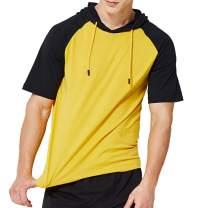 MANTORS Men's Short Sleeve Hoodie Lightweight Slim Fit Hooded T-Shirts