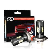 H7 LED Fog Light Bulbs, Vision Upgrade DRL Lamp, Super Bright and High Power, 1200LM 6000K Xenon White - 1 Year Warranty