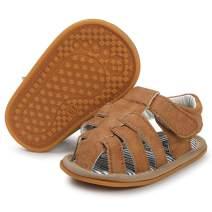 LAFEGEN Baby Boys Girls Summer Sandals Non Slip Soft Sole Outdoor Infant Toddler First Walker Crib Shoes(3-18Months)
