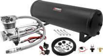 Vixen Air Suspension Kit for Truck/Car Bag/Air Ride/Spring. On Board System- 200psi Compressor, 4 Gallon Tank. for Boat Lift,Towing,Lowering,Leveling Bags,Onboard Train Horn,Semi/SUV VXO4841C