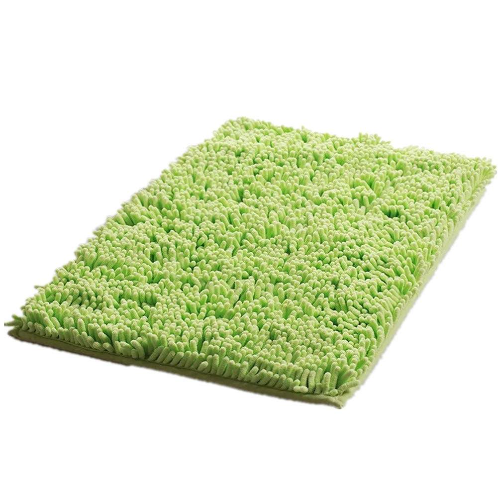 "Eanpet Chenille Bath Mat Non-Slip Microfiber Floor Mat Baby Bath Mat for Kids Ultra Soft Washable Bathroom Dry Fast Water Absorbent Shower Mat Area Rugs (16"" x 24"", Green)"