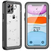 SHIWELY iPhone 11 Pro Max Case, IP68 Certified Premium Waterproof Sealed Case, Heavy Duty Full-Body Protective Cover with Clear Audio Quality and Built-in Screen Protector for iPhone 11 Pro Max
