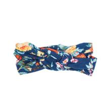 Headbands of Hope Infinity Head Turban For Women - Fashionable Hair Accessories Great for Yoga and Casual Wear - Adjustable Elastic Knot to Fit Girls and Babies (Navy Orange)