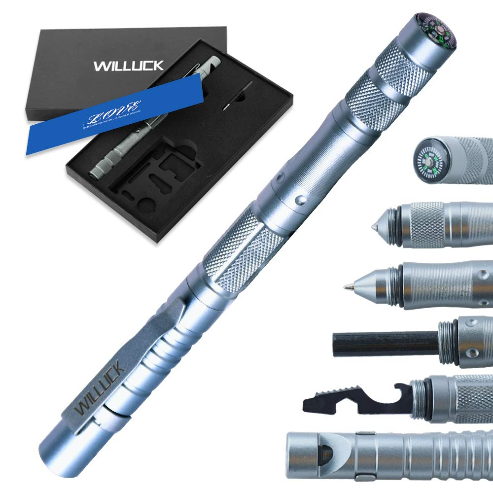 Fathers Day Gifts for Dad Men Husband,Tactical Pen (8-in-1),Cool Anniversary Birthday Hunting Gifts for Boyfriend Him,Emergency Survival Gear,Camping Kit,Fun Gadget Mens Gifts Ideas,Gift Box