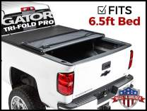 Gator Pro Tri-Fold (fits) 2014-2018 Chevy Silverado GMC Sierra 6.5 FT Bed Only Soft Folding Tonneau Truck Bed Cover (GSF0133) Made in The USA