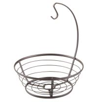 iDesign Axis Fruit Tree Bowl with Banana Hanger for Kitchen Countertops - Bronze