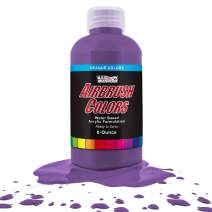 US Art Supply Deep Purple Opaque Acrylic Airbrush Paint 8 oz.