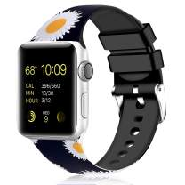 Greatfine Sport Band Compatible for Apple Watch Band 38mm 42mm 40mm 44mm,Soft Silicone Strap Replacement iWatch Bands Compatible with Apple Watch Series 5 4 3 2 1