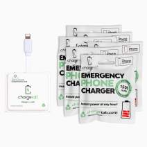 ChargeTab, Emergency Phone Charger, Portable Battery Pack, 1500mAh, On-Off Switch, Pre-Charged, Compatible with iPhone, 6 Pack