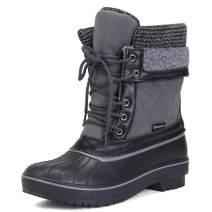 FANTURE Women's Waterproof Winter Snow Boots Mid-Calf & Knee-High