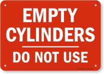 """SmartSign""""Empty Cylinders Do Not Use"""" Sign 