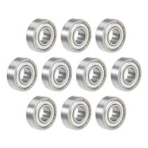"""uxcell R6ZZ Deep Groove Ball Bearing 3/8""""x7/8""""x9/32"""" Double Shielded Chrome Steel Bearings 10-Pack"""