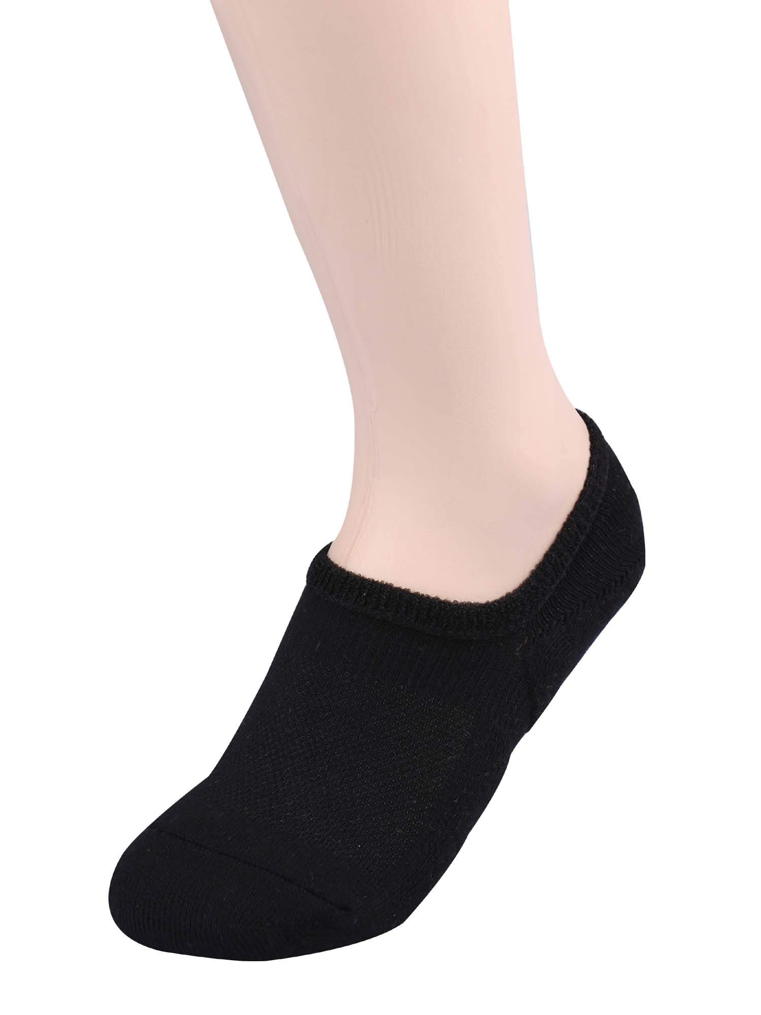 TETIBA Thick Cushion Cotton No Show Athletic Sport Socks 3 Sizes Men & Women With Non Slip