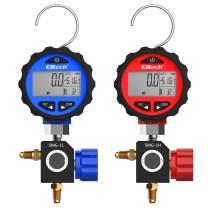 Elitech SMG-1L & SMG-1H HVAC Digital Pressure Gauge High and Low Pressure Gauges with Valves for 87+ Refrigerants with Backlight