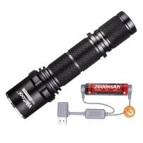 Weltool T6 Tactical Flashlight 960 feet Long Rang Throwing Handheld LED Rechargeable Torch Durable Powered Tactical Waterproof Single Mode - Reliable for Hunting, Night Walk, Battery & Charger