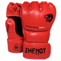 ZTTY MMA Gloves Martial Arts Training Sparring Punching Bag Gloves for The Kickboxing with Microfiber Leather