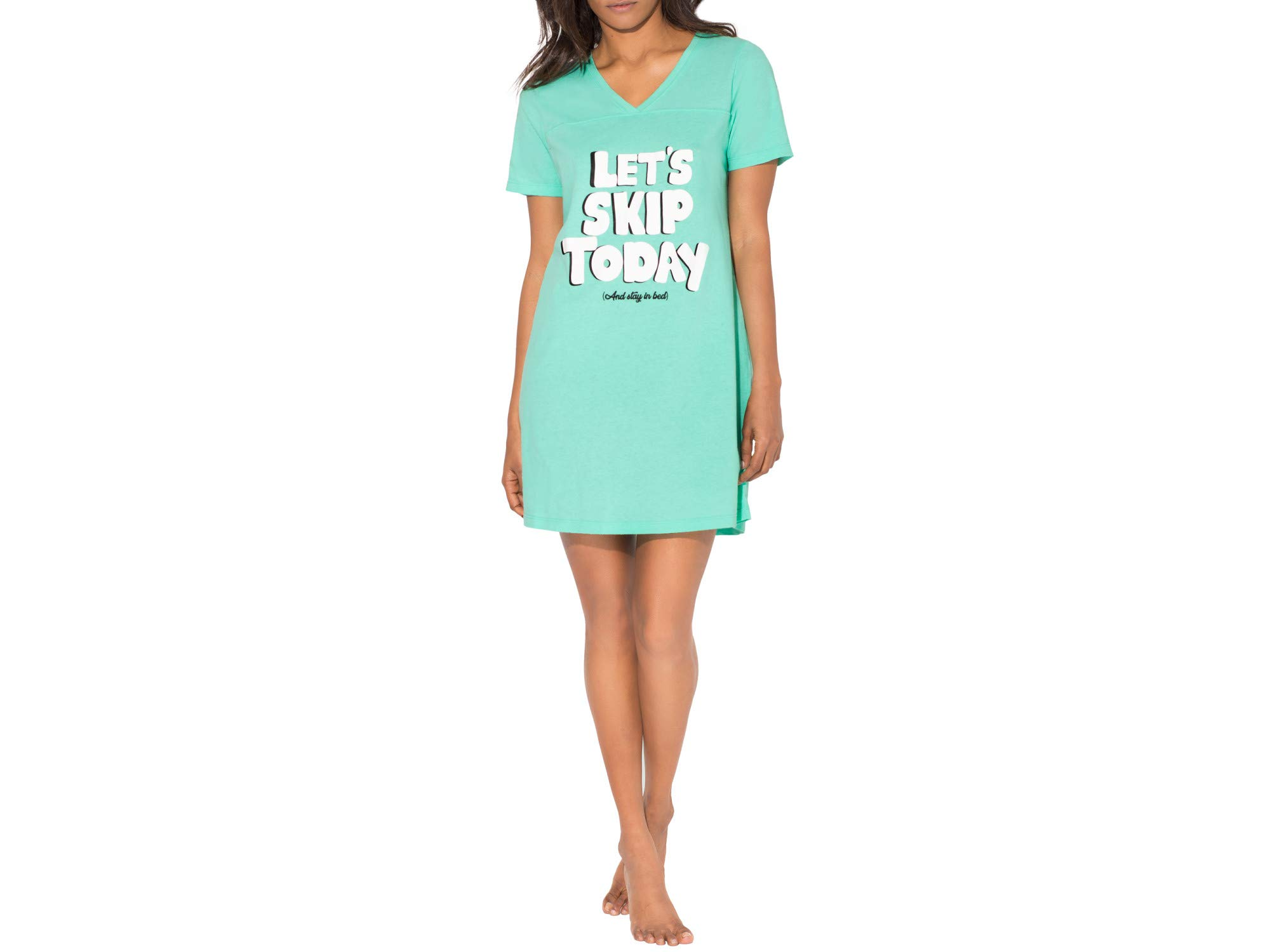 Smart & Sexy Women's V-Neck Oversized Sleep Shirt