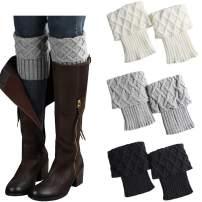 FAYBOX Women Lace Floral Boot Cuffs Leg Warmer Socks Pack of 4
