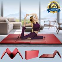 Gym Exercise Mat Thick Gymnastics Mat Home Floor Gym Mat 4x8x2 Folding Panel Fitness Training Pad Fold Tumbling Mat with Handles for Yoga Martial Arts Stretching Aerobic