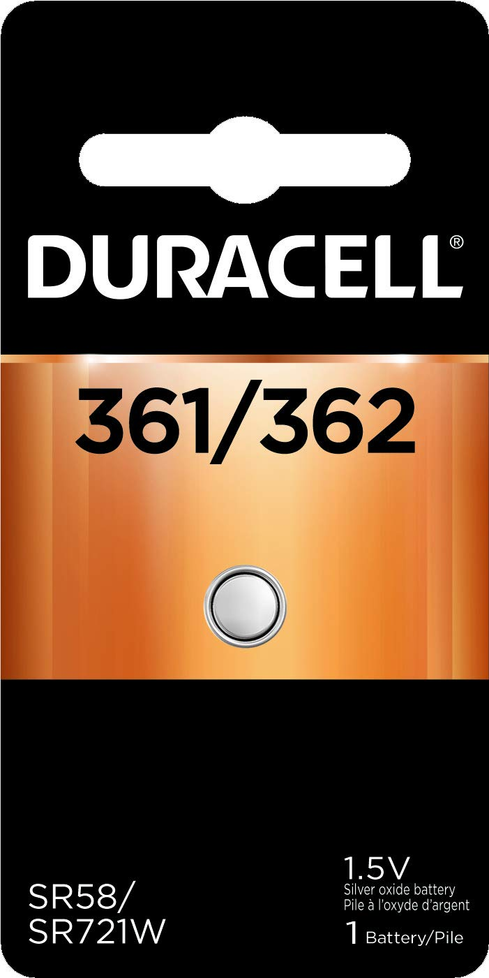 Duracell – 361/362 1.5V Silver Oxide Button Battery – long-lasting battery, 36 Count