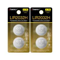 Rechargeable 2032 Batteries 70mAh Lithium 3.7V, CT ENERGY High Capacity LIR2032H Li-ion Button Batteries Coin Cells Replace CR2032