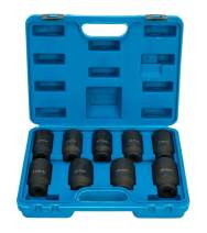 8MILELAKE Axle Nut Impact Sockets Set 9pcs Front and Back Wheel Driver Sockets 1/2 inches Drive