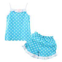 LittleSpring Little Girls Summer Outfit Floral Tank Top and Short Set Set
