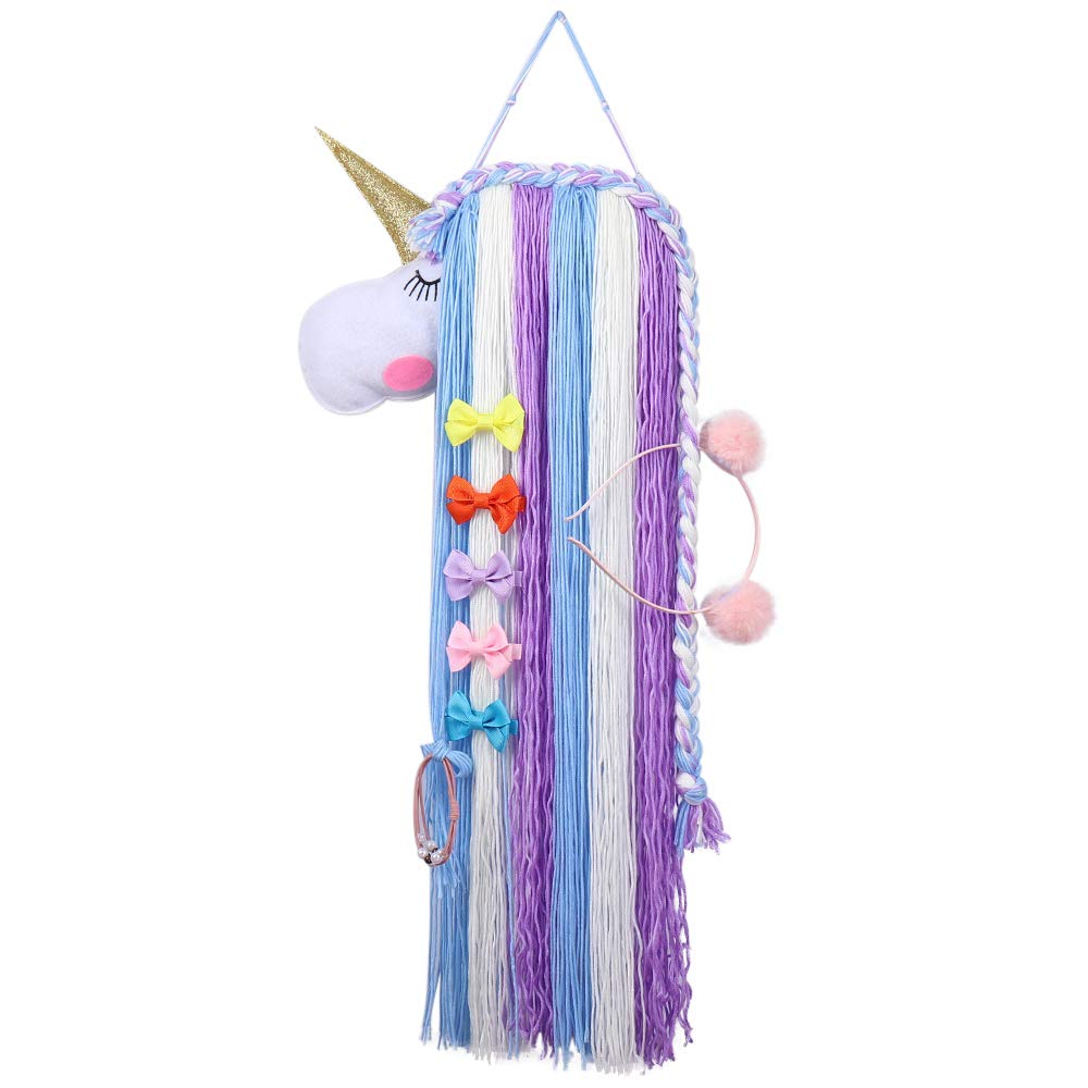 Unicorn Hair Bow Holder-Baby Hair Accessories Storage Display for Headband, Hair Tie, Bow Decoration for Toddler Girls Room (2)