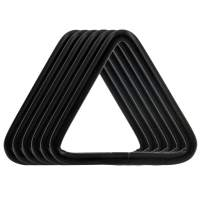 BIKICOCO 1-1/2'' Metal Triangle Ring Buckle Connectors Non Welded Round Edge Webbing Bag Clasp Handbag Strap Making Hardware, Black - Pack of 6
