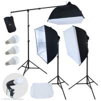 LINCO Lincostore Photo Studio Lighting LED Lights Softbox with Boom Arm Kit AM246