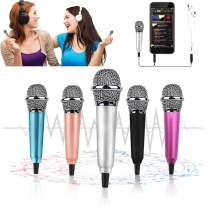 Mini Microphone,Tiny Microphone, Portable Microphone/Instrument Microphone for Man/Pet Voice Recording Shouting and Sing,with Mic Stand and Box (Silver)