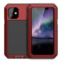 iPhone 11 Case Metal,Aluminum Military Grade Drop Tested,360 Full Body Heavy Duty Rugged,Shockproof Defender for iPhone 11 6.1 (TK-Red)