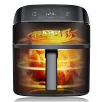 Air Fryer, XL 6 Quart, Electric Hot Air Fryers Oven for Roasting, Oilless Cooker Fryer with LCD Digital Screen, Nonstick Frying Pot, Basket, Recipe Book