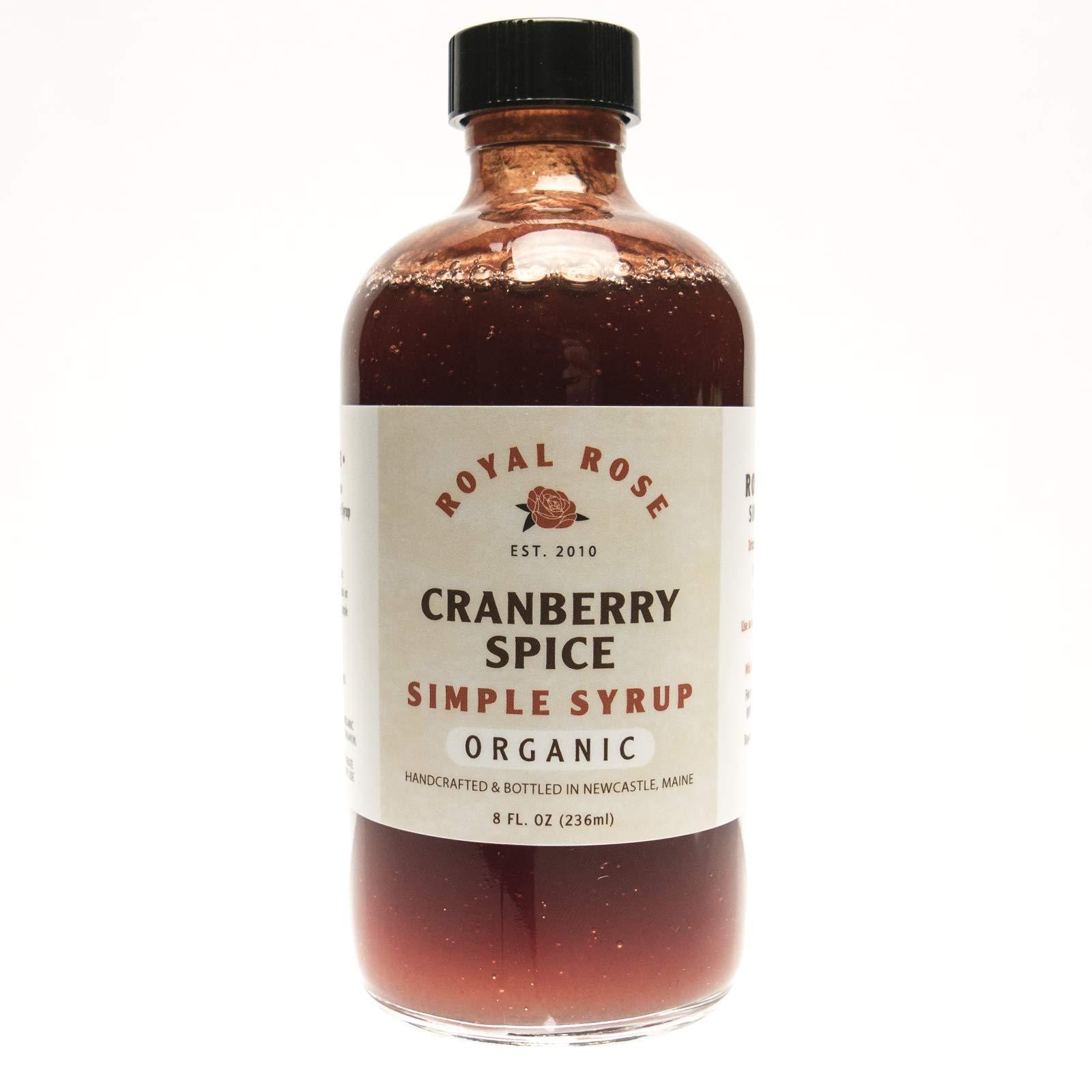 Royal Rose Organic Cranberry Spice Syrup, 8 oz