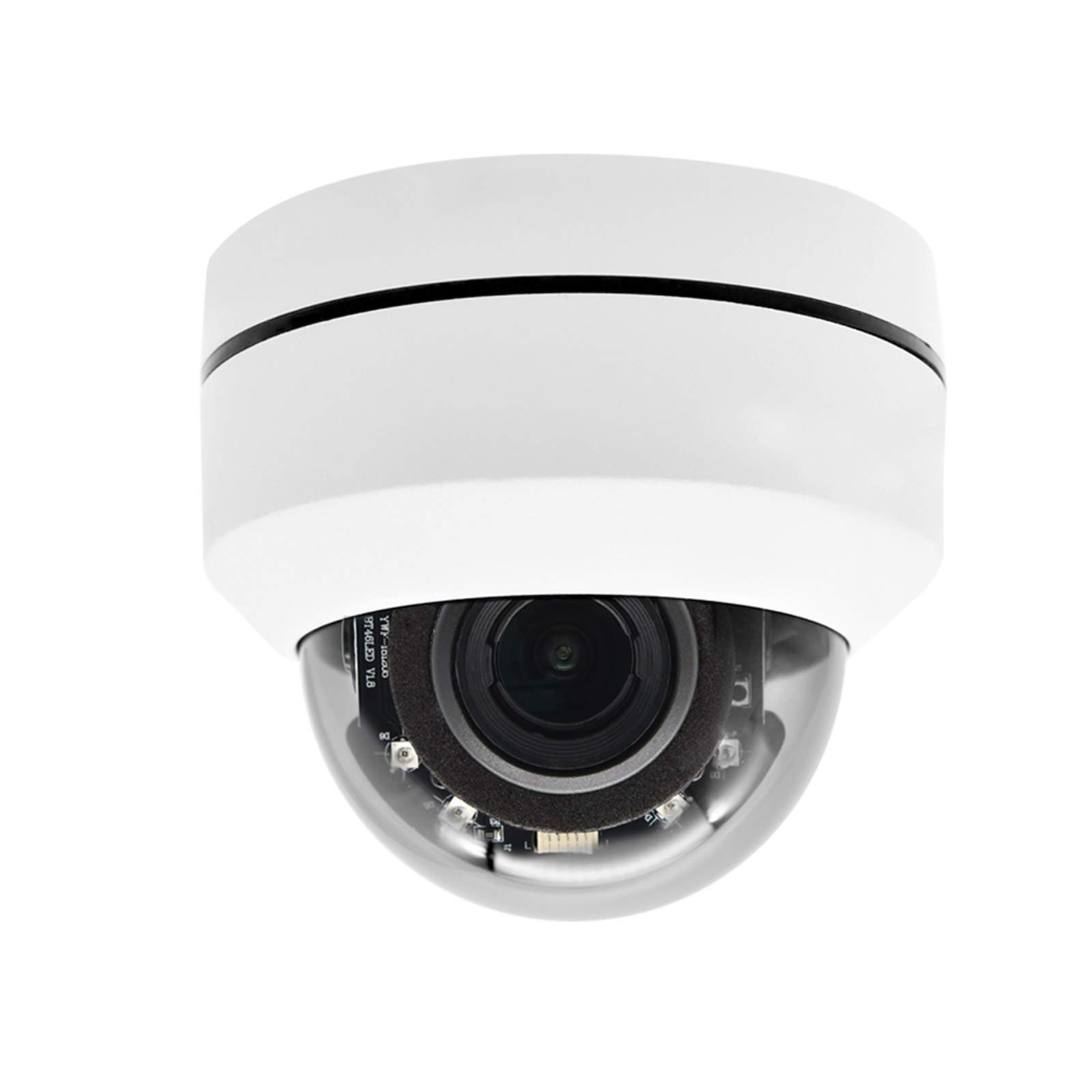 Hikvision Compatible Outdoor 5MP PTZ IP Camera, 4X Optical Zoom 16x Digital Zoom Pan Tilt with 165ft IR Night Vsion,Motion Detect,WDR,IP67,IK10,ONVIF,PoE PTZ Dome Camera(2504X-IZ)