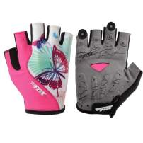DuShow Cycling Gloves Women Half Finger Gel Padded Bike Gloves Anti-Slip Shock-Absorbing Fingerless Bicycle Short Gloves