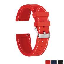 Sentai Silicone Watch Bands - Quick Release Straps - Choose Color & Width - 16mm, 18mm, 20mm or 22mm - Soft Rubber