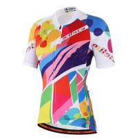 MILOTO Women's Cycling Jersey Short Sleeve Reflective Biking Tops