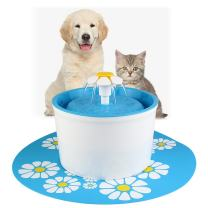 ELEOPTION Pet Water Fountain Auto Flow Surper Quiet for Cat Dog Water Dispenser Recycle Drinking Small Fountain 1.6L Pefect for Small Pets Electric Drinking Bowl (Fountain Blue)