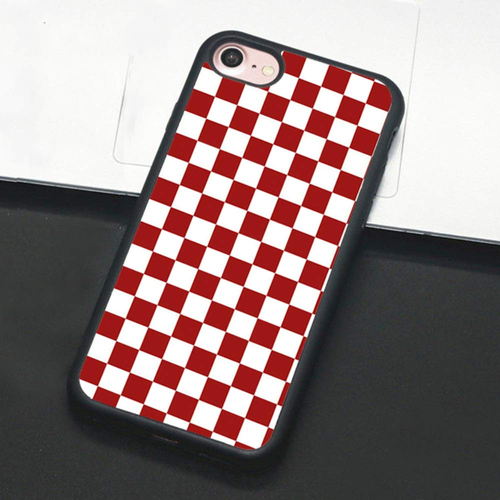 Checkerboard Phone Case for iPhone Xs Max XR X 8 Plus 7 Plus 8 7 6 6s 5s 5 se Hard Cover Grid Lattice Plaid Tartan Damier House Checkerboard Chessboard Checker Flag (iPhone 7/8 Plus,3)