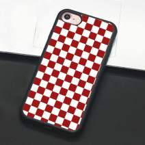 Checkerboard Phone Case for iPhone 11 Pro Max XS Max XR X 8 Plus 7 Plus 8 7 6 6s 5s 5 se Hard Cover Grid Lattice Plaid Tartan Damier House Checkerboard Chessboard Checker Flag (iPhone 6 6s,3)