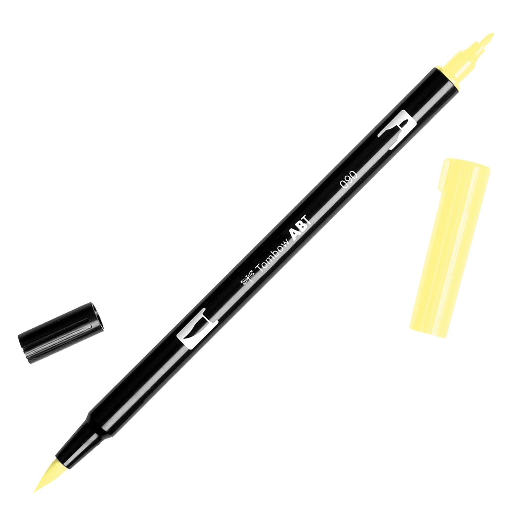 Tombow Dual Brush Pen Art Marker, 090 - Baby Yellow, 1-Pack