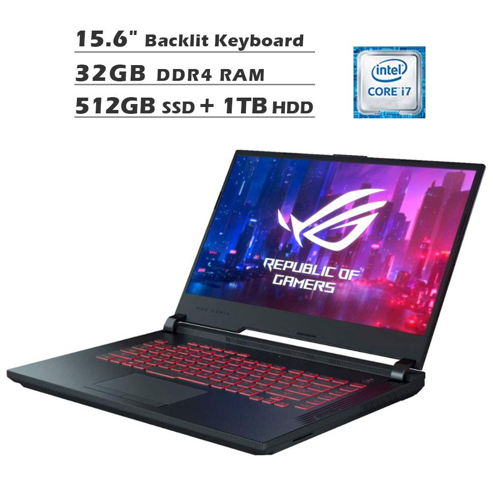 2020 NexiGo ROG G531GT 15.6 Inch FHD 1080P Gaming Laptop| Intel 6-Core i7-9750H up to 4.50 GHz| GeForce GTX 1650 4GB| 32GB DDR4 RAM| 512GB SSD (Boot) + 1TB HDD| Backlit KB| Windows 10| Black