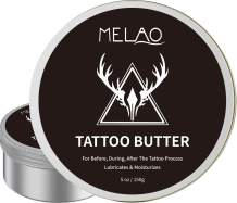 Tattoo Aftercare Tattoo Cream Tattoo Balm Tattoo Salve Tattoo Butter for Before, During, After The Tattoo Process,Enhances Tattoo Colors, Promotes Healing, Protects,Safe, Natural - 5 oz