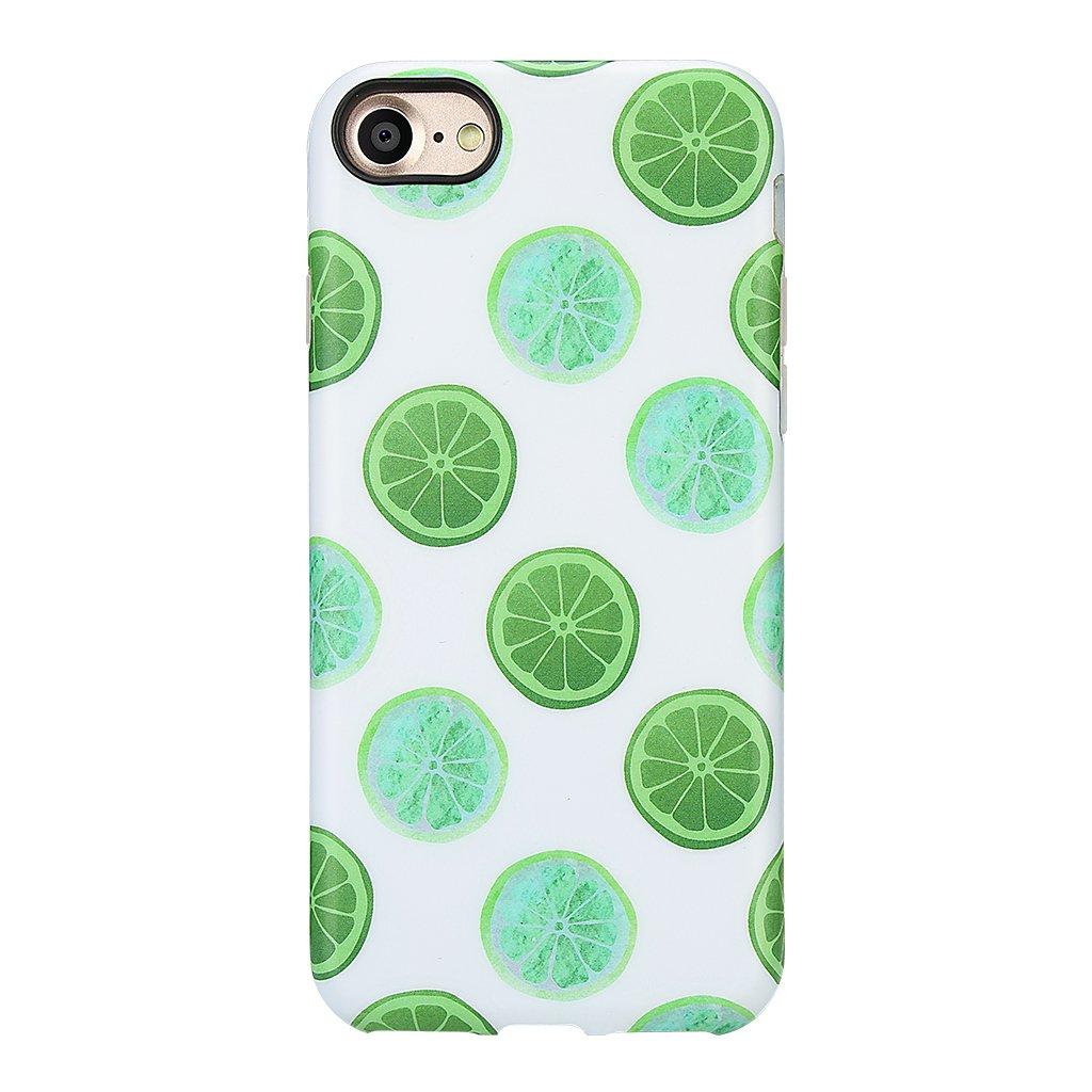 iPhone 7 Case for Girls/iPhone 8 Summer Case, GOLINK Summer Series Slim-Fit Anti-Scratch Shock Proof Anti-Finger Print Flexible TPU Gel Case for iPhone 7/iPhone 8-Lemon