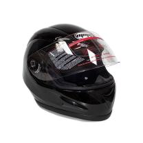 MMG 118 Motorcycle Full Face Helmet DOT Street Legal Double Visor Comes with Clear Flip Up Shield and Retractable Inner Smoked Shield – Glossy Black, X-Large