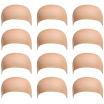 Dreamlover Beige Stocking Wig Caps for Women, 12 Pack