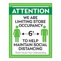 """Social Distancing Sign Style 7 (5"""" x 7"""")"""