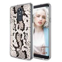 TalkingCase Clear Thin Gel Phone Case for LG Stylo 5,5v,Snake Print,Light Weight,Ultra Flexible,Soft Touch,Anti-Scratch,Designed in USA